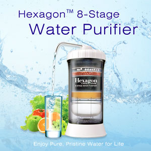 The Hot Hexagon 8 Stage Water Purifier on sale
