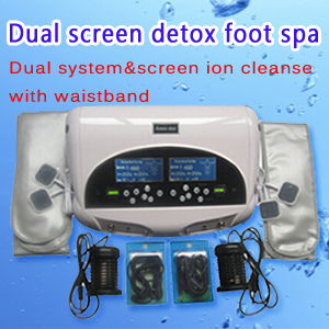 Dual screen ion detox foot spa(Dual system & screen ion cleanse with waistband)